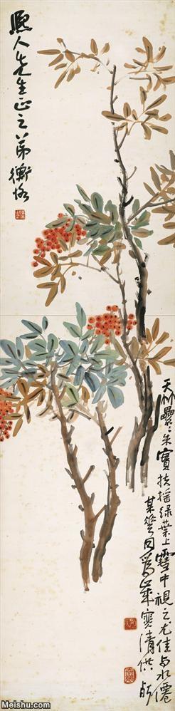 【超顶级】JXD5260807近现代国画陈师曾扶摇绿叶138x34花鸟图片-314M-5.jpg