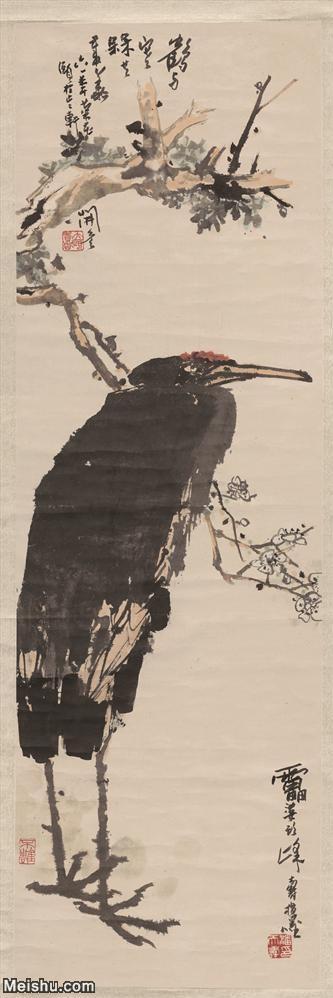 【超顶级】JXD5260688近现代国画潘天寿-鹤花鸟图片-686M-7.jpg