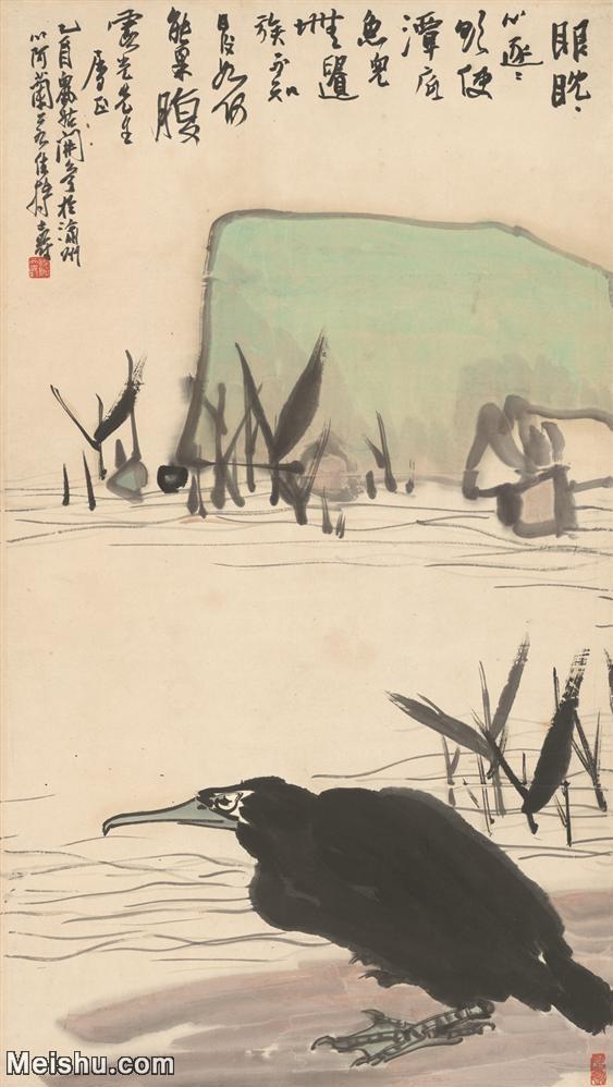 【超顶级】JXD5260690近现代国画潘天寿-黑鸟-花鸟图片-331M-6.jpg