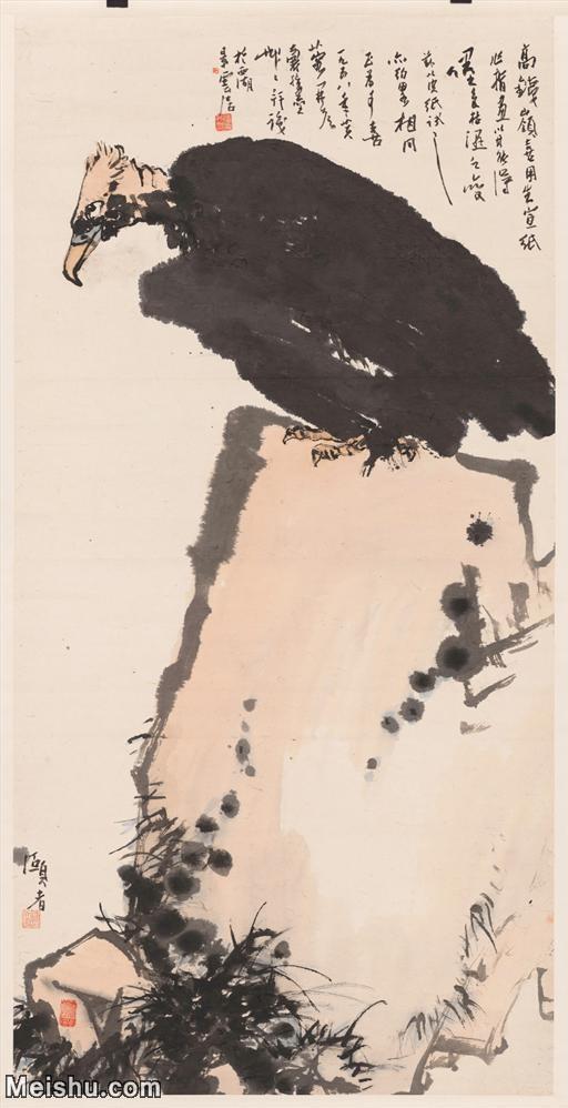 【超顶级】JXD5260689近现代国画潘天寿-鹫石图65x129花鸟图片-361M-8.jpg