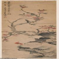 【超顶级】JXD5267113近现代国画名家朱梦庐-花鸟四条屏轴(冬)条屏风图片-222M-4