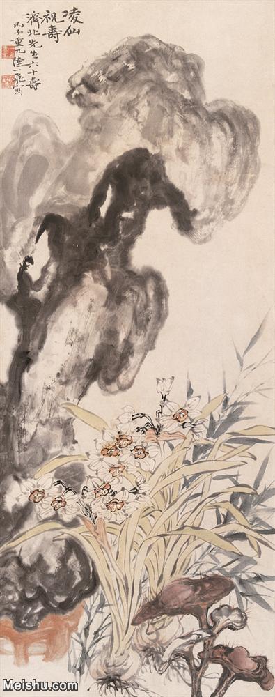 【欣赏级】JXD6165275近现代陆抑非 (234)名家国画花鸟花卉植物立轴图片-29M-.jpg