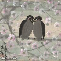 【印刷级】JXD12121335-花鸟植物方式-林风眠小鸟近现代国画高清晰专业喷墨微喷印刷用高档电子文件图片下载-74M-