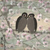 【印刷级】JXD5265719近现代国画名家林枫眠小鸟花鸟植物图片-76M-