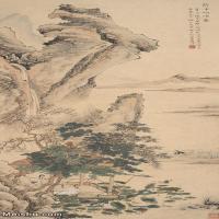 【印刷级】JXD6166877近现代陆抑非 (218)名家国画山水风景立轴图片-40M-