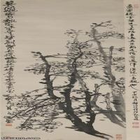 【印刷级】JXD12121615-花鸟植物立式-赵云壑 梅花图 近现代国画喷墨印刷高档电子图库图片-126M-3