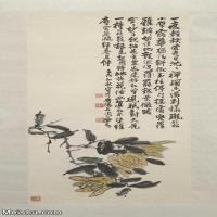 【印刷级】JXD7081202近现代国画近现代国画 陈师曾 佛手图轴花鸟植物立轴图片-70M-
