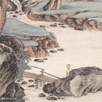 【印刷级】JXD6166881近现代陆抑非 (224)名家国画山水风景立轴图片-57M-