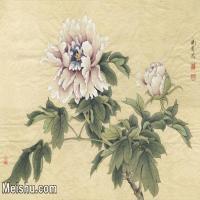 【印刷级】JXD7080775近现代国画《临于非闇紫牡丹》 花鸟植物小品图片-51M-