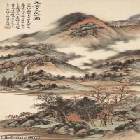 【印刷级】JXD6166878近现代陆抑非 (219)名家国画山水风景立轴图片-34M-