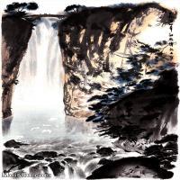 【超顶级】JXD5240476近现代国画瀑布-傅抱石国画水墨立轴-30x45.5-60x91.5-山水-风景山水风景图片-218M-7