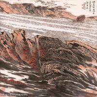 【超顶级】JXD5240470近现代国画满峡开帆图-陆俨少国画水墨立轴-30x49.5-60x99.5-山水-风景-江河-海峡-帆船山水风景图片-295M-6