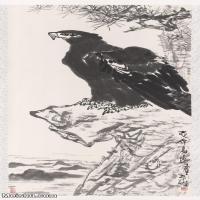 【超顶级】JXD5261290近现代国画李苦禅鹰动物立轴图片-760M-22