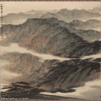 【超顶级】JXD5240529近现代国画蜀山图-高昂傅抱石国画水墨立轴-30x54-60x107.5-65.3x108.1-山水-风景-山峰山水风景图片-347M-7