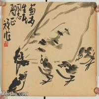 【印刷级】JXD5265704近现代国画名家李苦禅多子图花鸟植物图片-83M-