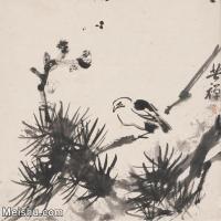 【印刷级】JXD5265705近现代国画名家李苦禅松鸟花鸟植物图片-79M-