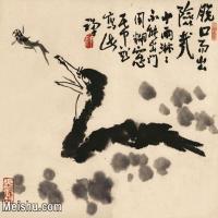 【欣赏级】JXD6160502近现代《重脱口》1981年作-李苦禅国画水墨小品-38x30国画动物小品图片-16M-