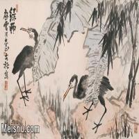 【印刷级】JXD5265707近现代国画名家李苦禅花鸟花鸟植物图片-87M-