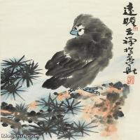 【印刷级】JXD12120585-动物立式-国画李苦禅 远瞻高清晰高质量下载印刷喷绘图片-70M-