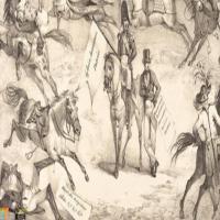 法国画家欧仁·德拉克罗瓦-素描展