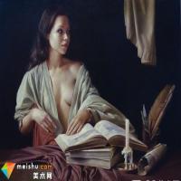 瓦列里·约斯丁人体油画作品欣赏:灯火黄昏女人香