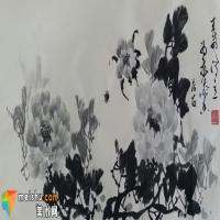 蔡茂友水墨牡丹作品欣赏