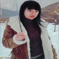 楚兴旺:呈现有故事的人物油画作品