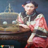 陈逸飞与《红袍》仕女图