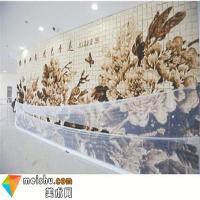 2100多片吐司拼出7米长牡丹图