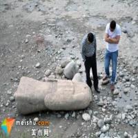 都江堰发现汉代无头石像:或为李公庙雕像