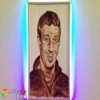 奇葩藝術家用自己的屎給扎克伯格畫肖像