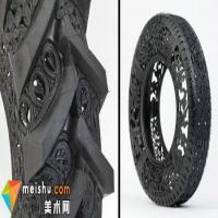 汽车轮胎变身精美艺术品