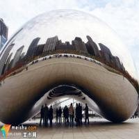 芝加哥千禧公园里的腰果雕塑