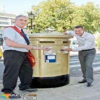 英国金色邮筒欢庆本土奥运冠军