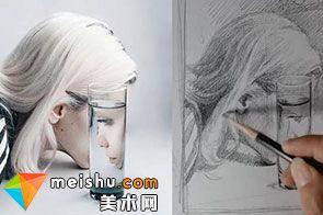 「素描」超现实风格人物头像透明质感创意绘画教学视频(共三集)