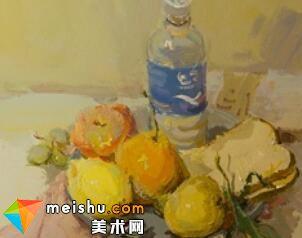 水粉静物赵亮宝矿力-美术高考视频教学