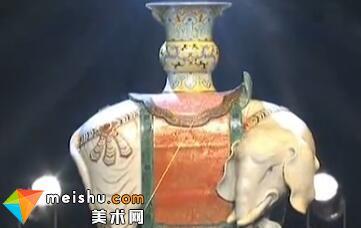清乾隆粉彩太平有象摆件-收藏秀2011