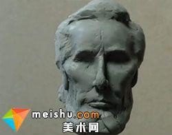「林肯」人物头像雕塑造型艺术教学