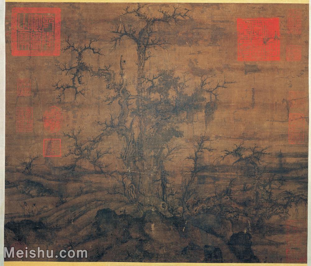 【印刷级】GH6080805古画树木植物宋-宋人-小寒林圖小品图片-41M-4096X3505.jpg