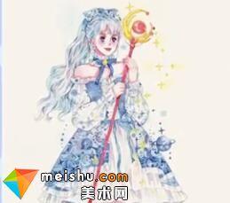 「水彩人物绘」魔法棒少女-美术高考视频教学