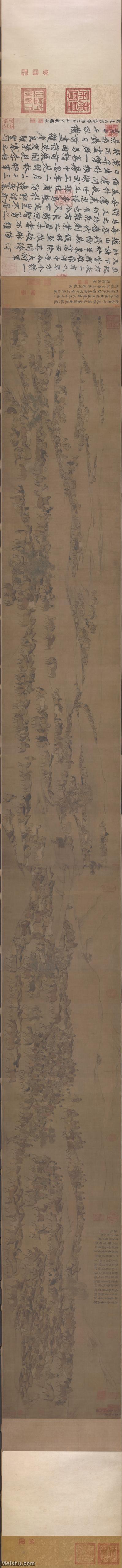 【超顶级】GH7270676古画宋-李公麟 临韦偃牧放图卷C版长卷图片-1171M-72268X5667_961215.