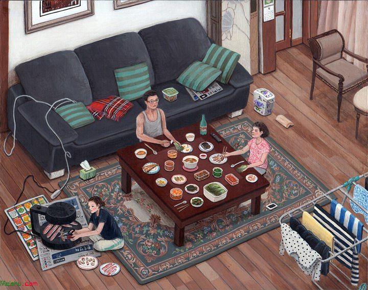韩国插画家Paige Jiyoung Moon作品对生活的记录