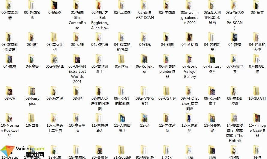 美术网FX011-3000多付美术作品-网友分享1.11GB