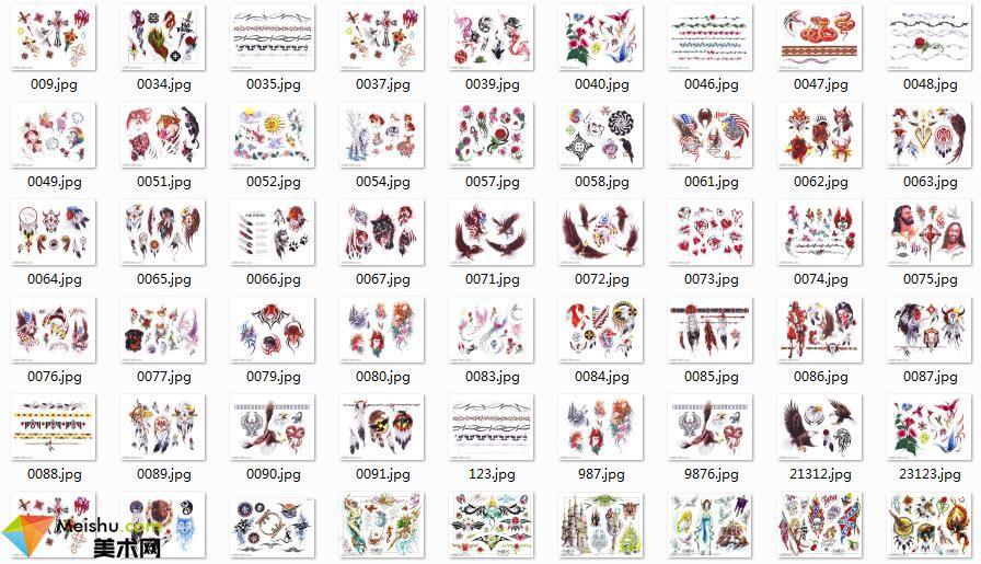 美术网FX042-纹身图案素材图库313张-40MB