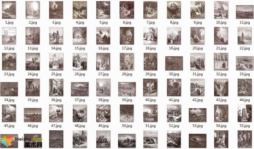 美术网FX048-《圣经》插画[古斯塔夫.多雷]版画图库-(非高清-平板浏览版)241张-33MB
