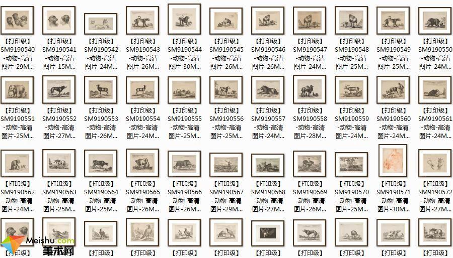 美术网FX182素描图库-素描动物-西方大师素描作品图片下载(285张)-153MB