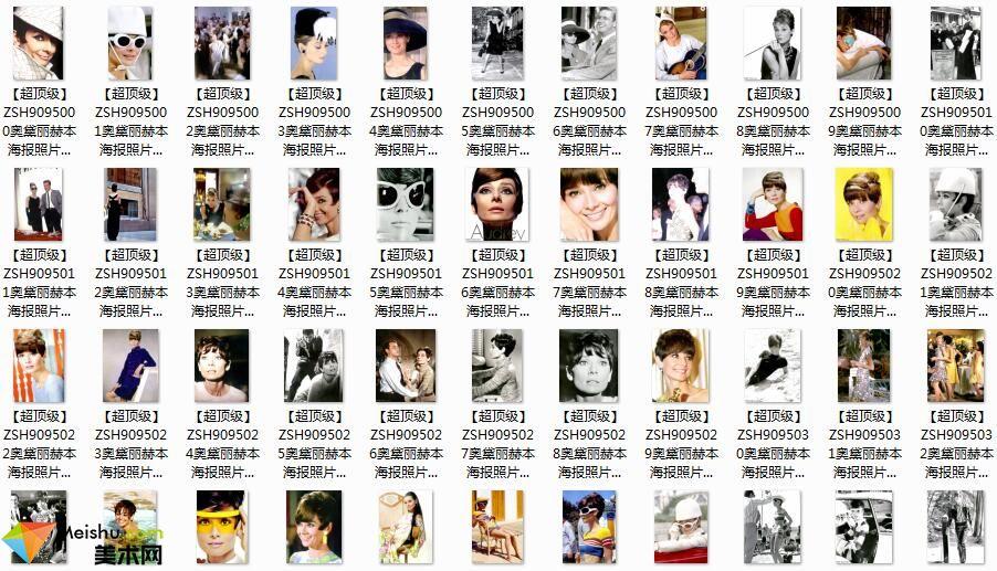 美术网FX084-欧美明星海报图片=-玛丽莲梦露奥黛丝赫本模特照片图片库下载-1108张-290MB