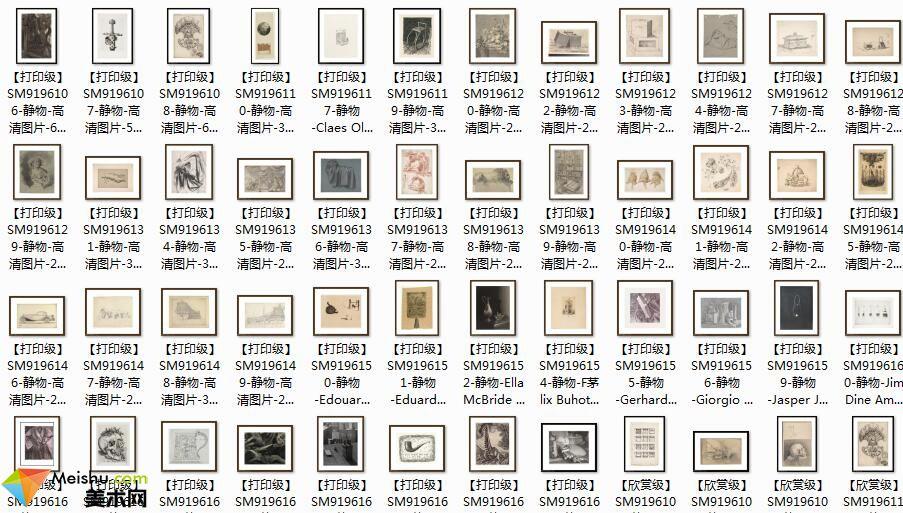 美术网FX175素描图库-花卉素描图库素描静物图片战争场景素描图库资料下载-416张-245MB