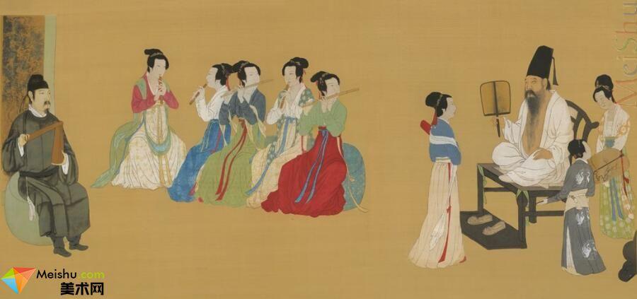 GH7280306古画人物韩熙载夜宴图镜片图片-677M-19045X8805