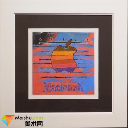 安迪,沃霍尔的这幅苹果彩色 logo 画被拍卖了,乔布斯曾想给画家送电脑